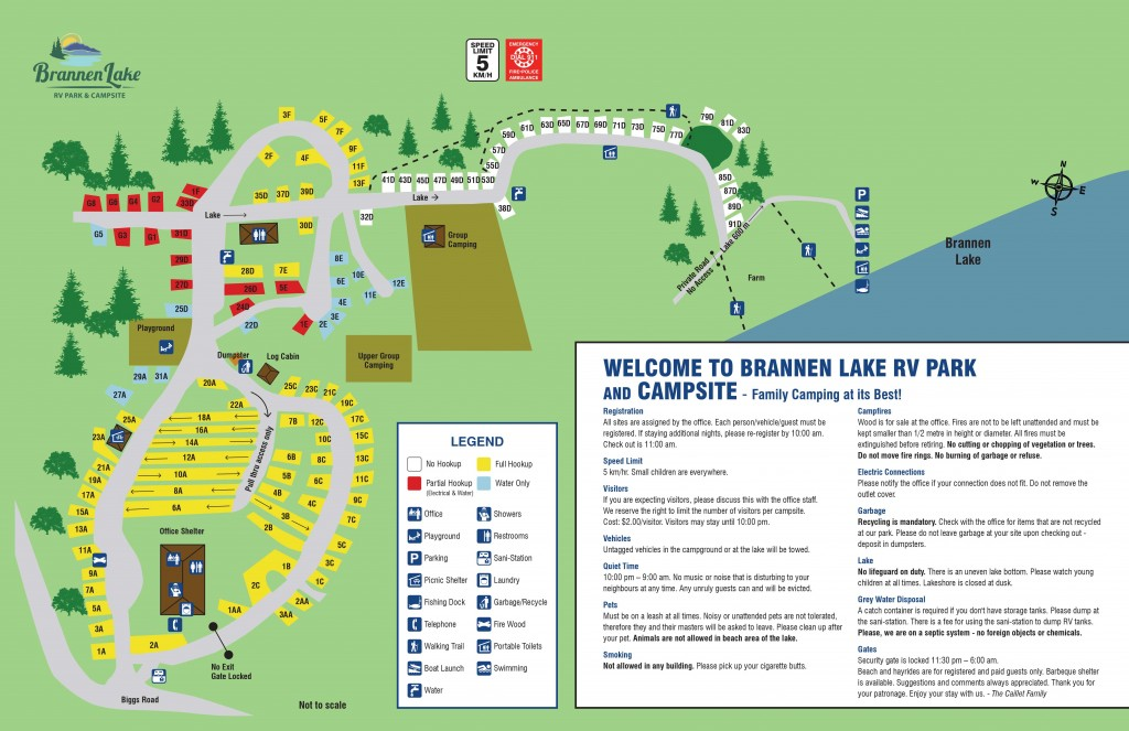 Park Map | Brannen Lake