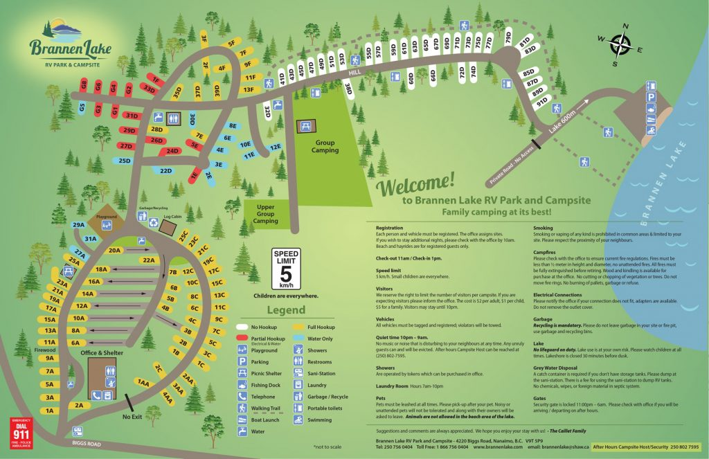 Brannen Lake Campground map